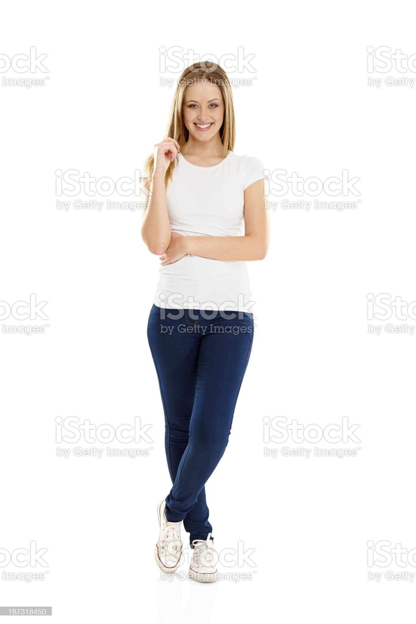 Portrait of cute young girl royalty-free stock photo
