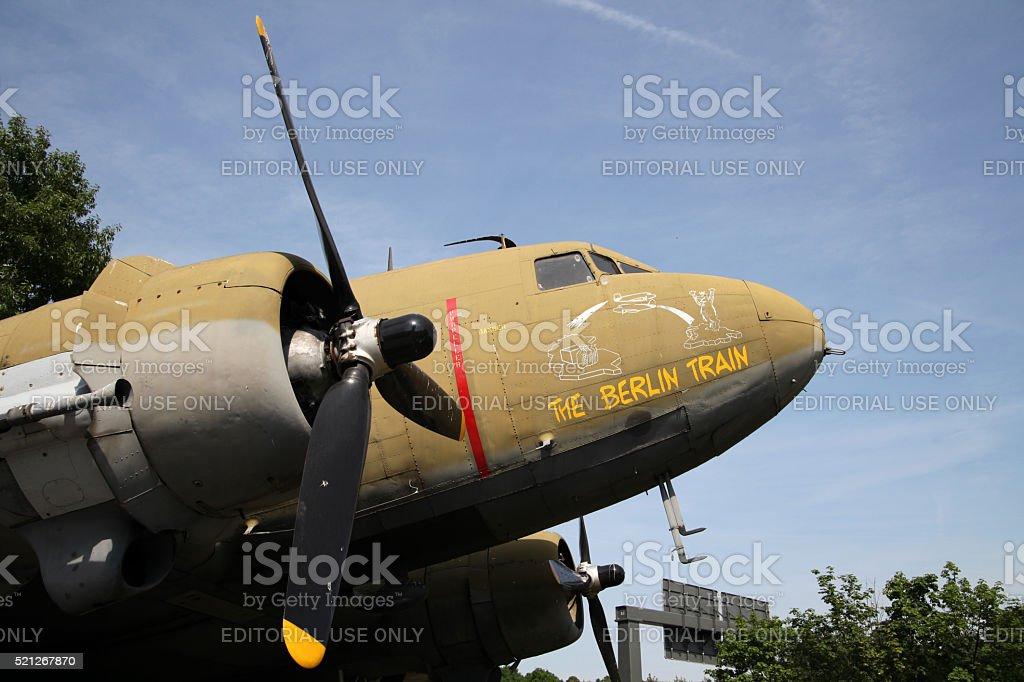 Portrait of DC3 so called Berlintrain from WW2 stock photo