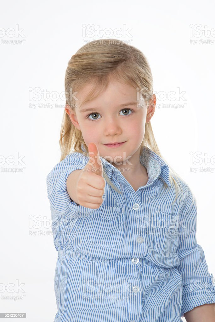 portrait of determinated child stock photo