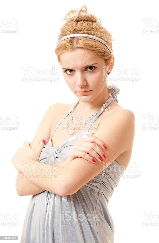 Portrait of dissatisfied girl royalty-free stock photo