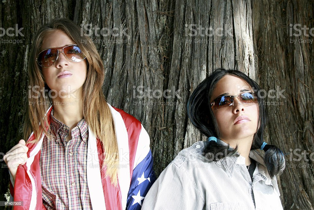 Portrait of Diverse America royalty-free stock photo