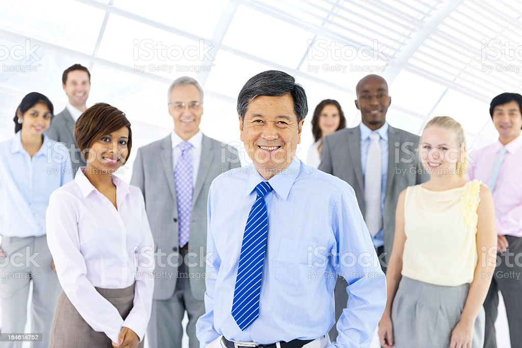 Portrait of diverse business colleagues royalty-free stock photo
