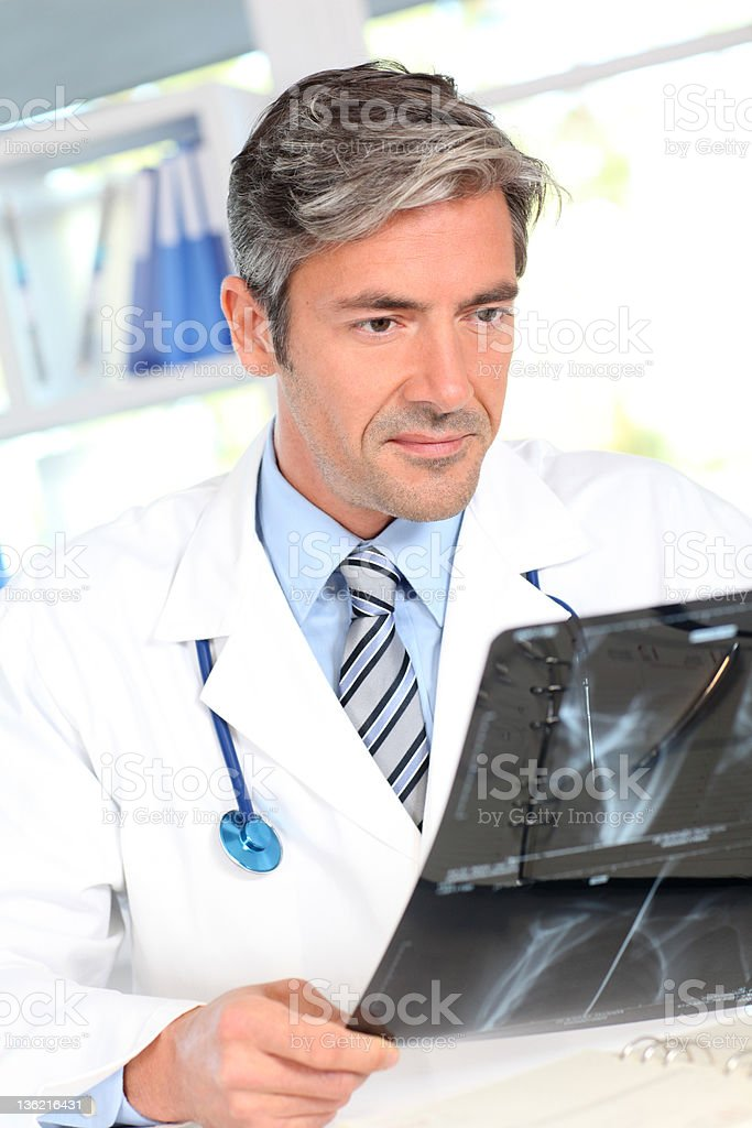 Portrait of doctor at work stock photo
