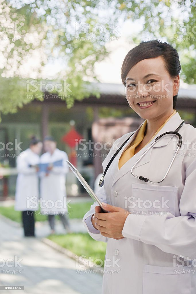 Portrait of Doctor in Courtyard royalty-free stock photo