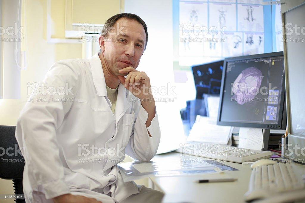 Portrait of doctor stock photo