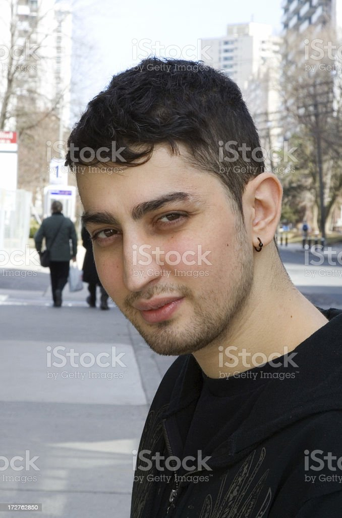 Portrait of downtown Toronto man stock photo
