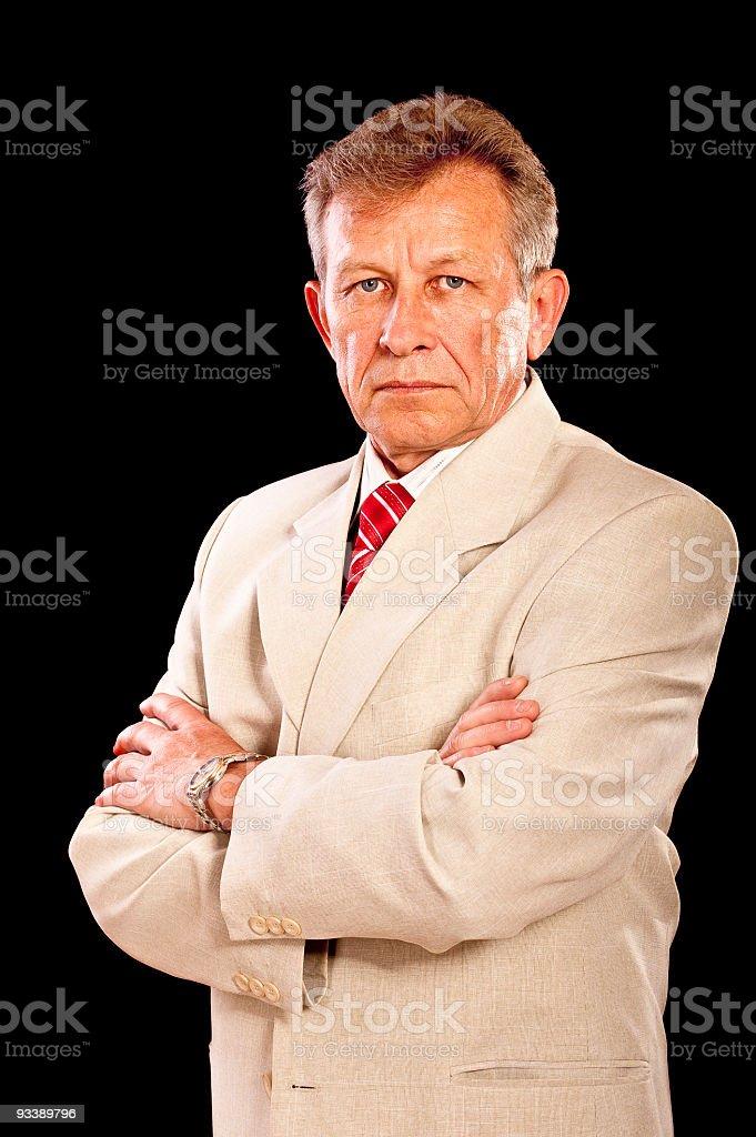 Portrait of elderly businessman royalty-free stock photo