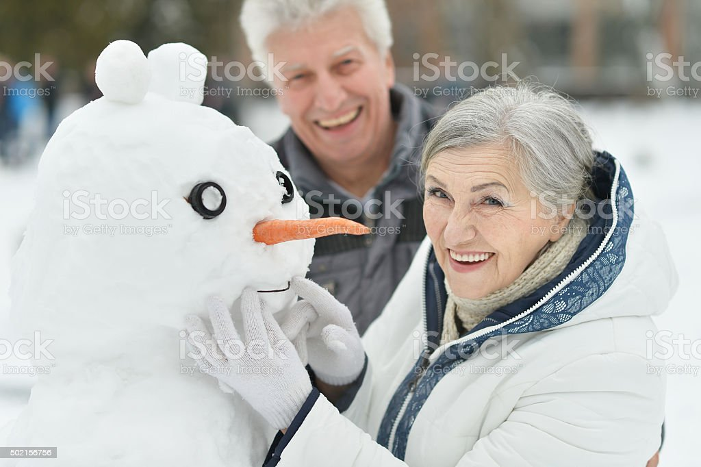 Portrait of elderly couple stock photo