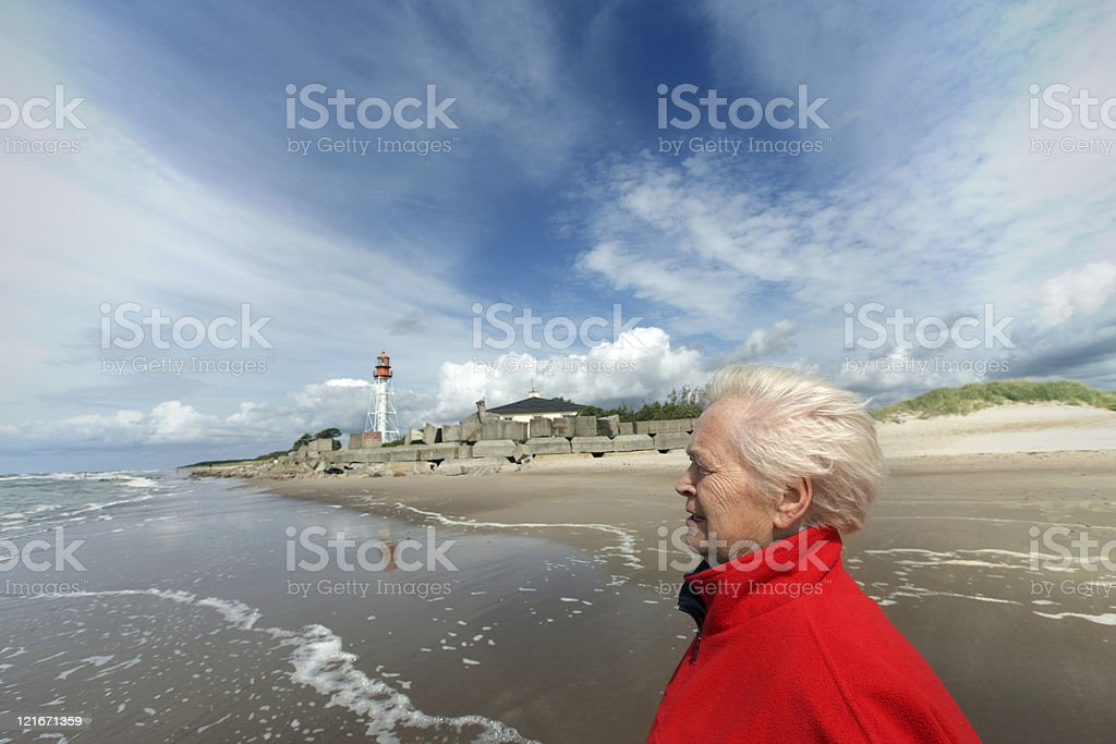 portrait of eldery woman royalty-free stock photo