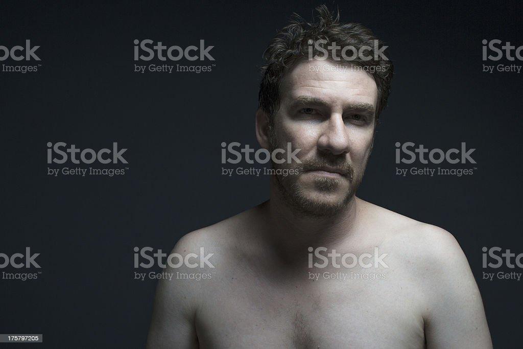 Portrait of emotional man royalty-free stock photo