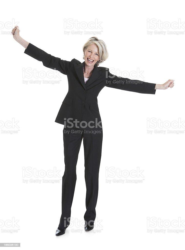 Retrato de mujer de negocios de excitación - foto de stock