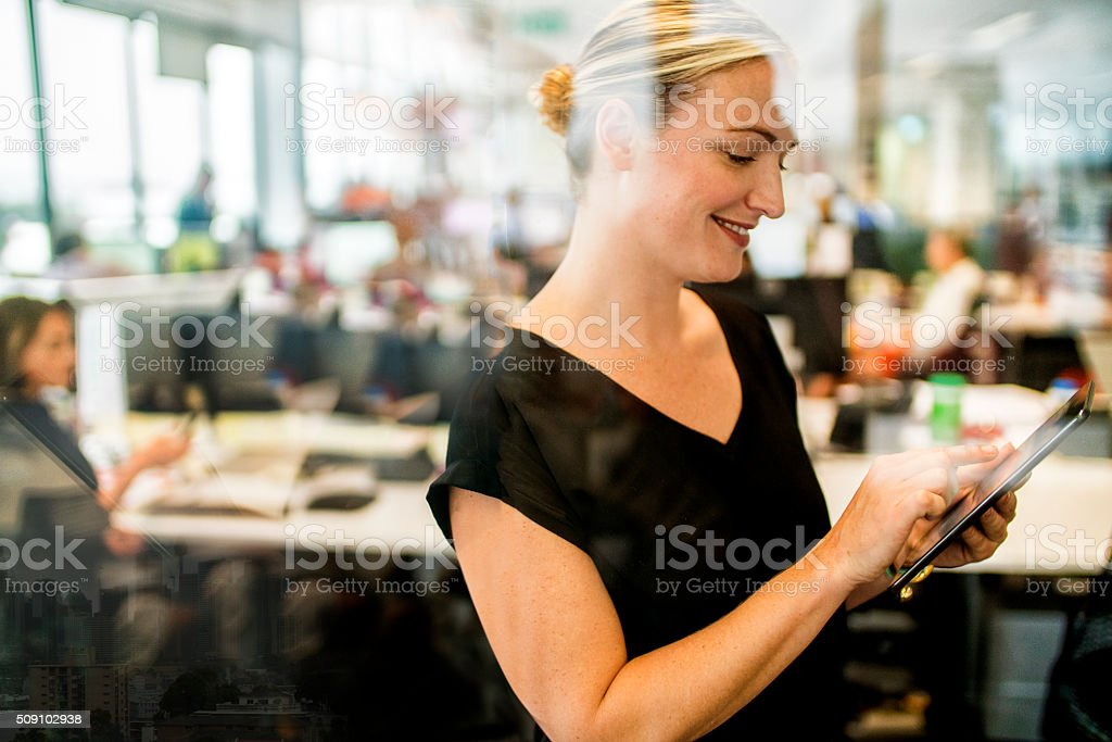 Portrait of executive businesswoman. stock photo