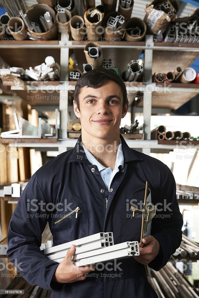 Portrait Of Factory Worker In Component Store royalty-free stock photo