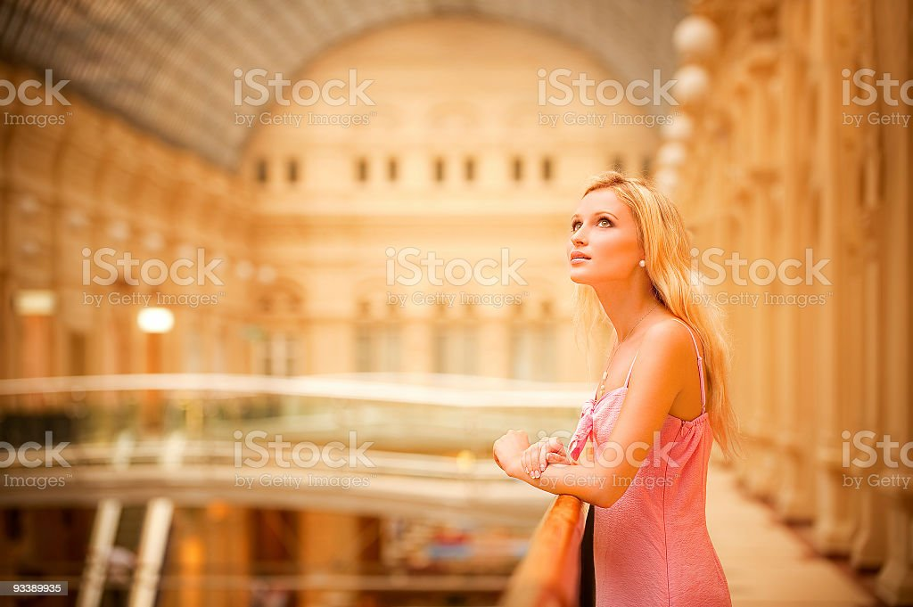 Portrait of fair-haired girl royalty-free stock photo