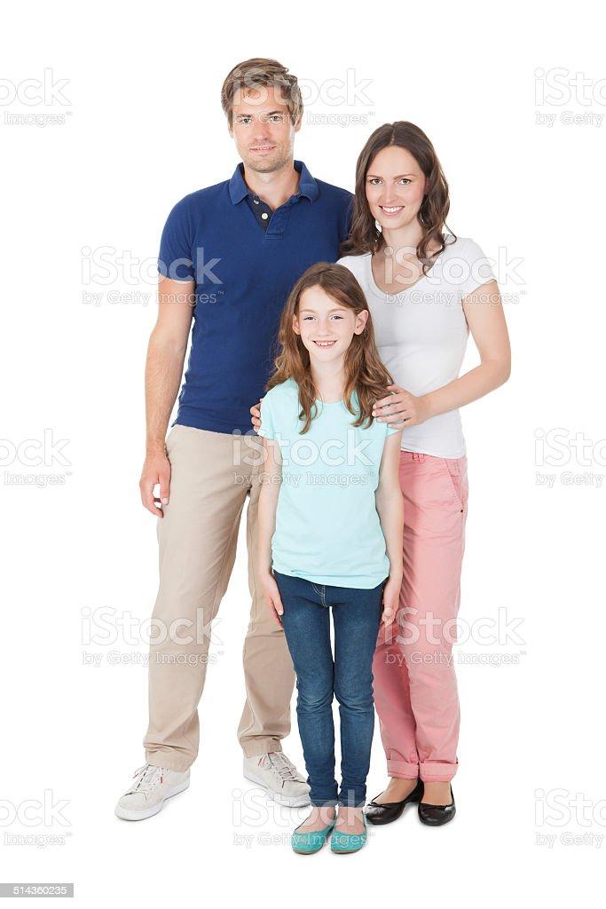 Retrato de familia en Vestimenta informal - foto de stock