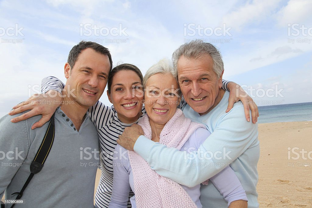 Portrait of family in vacation stock photo