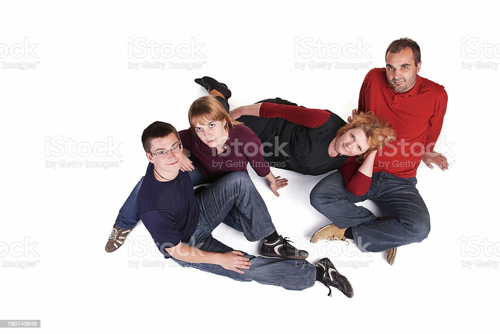 Portrait Of Family royalty-free stock photo