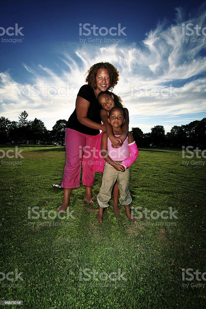 portrait of family royalty-free stock photo