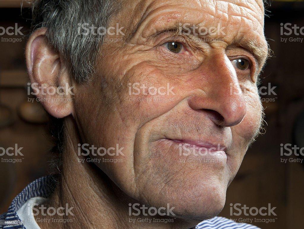 portrait of farmer stock photo