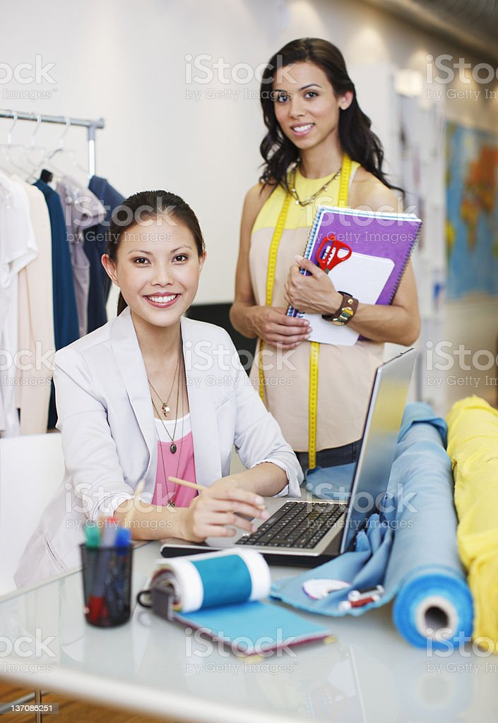 Portrait of fashion designers in office royalty-free stock photo