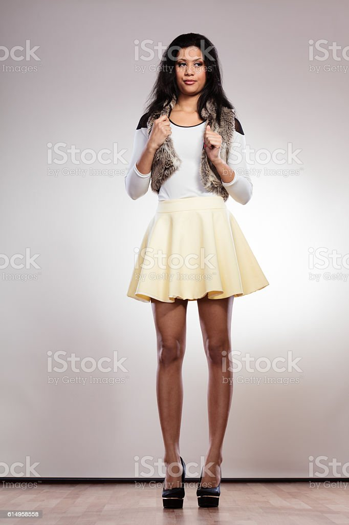 Portrait of fashion girl stock photo