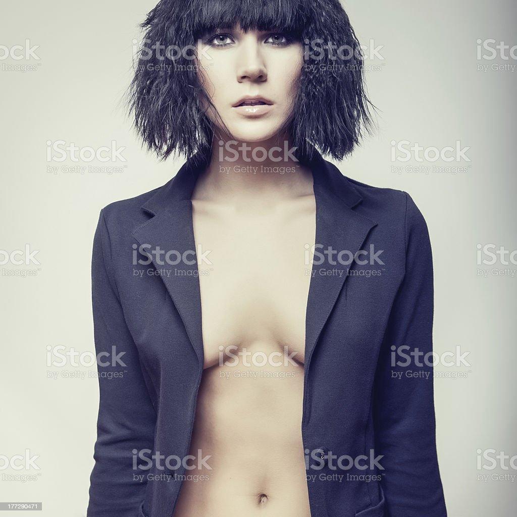 portrait of fashion woman model royalty-free stock photo