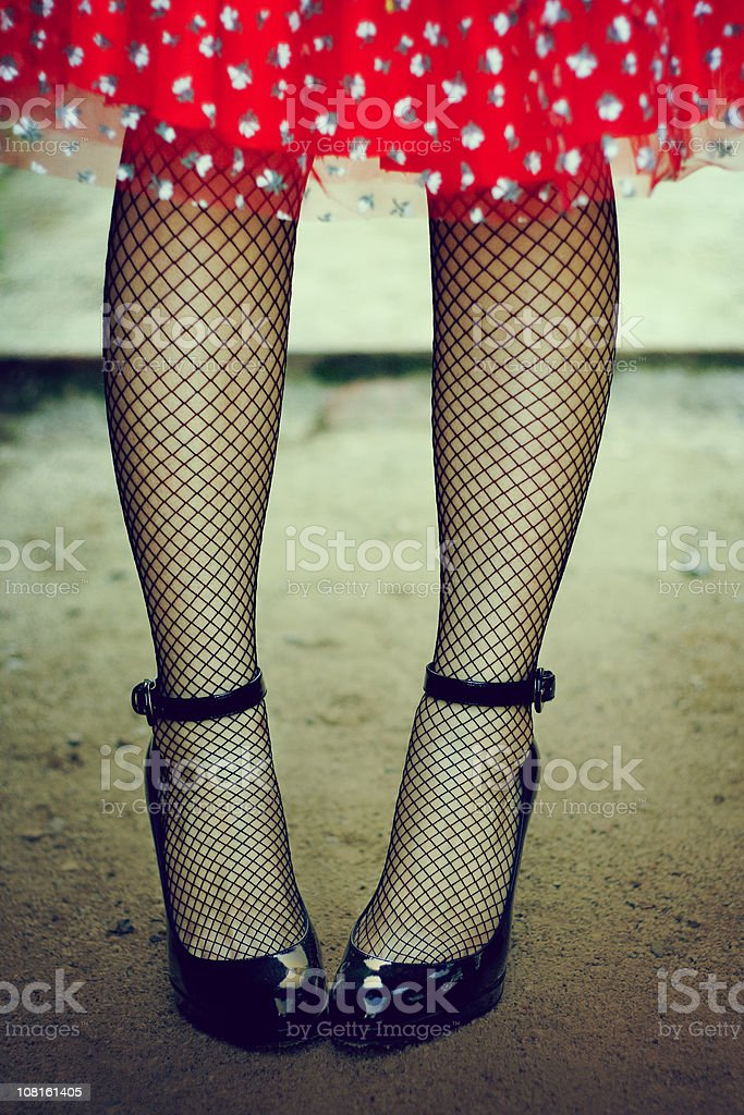 Portrait of Fashionable Woman's Feet royalty-free stock photo