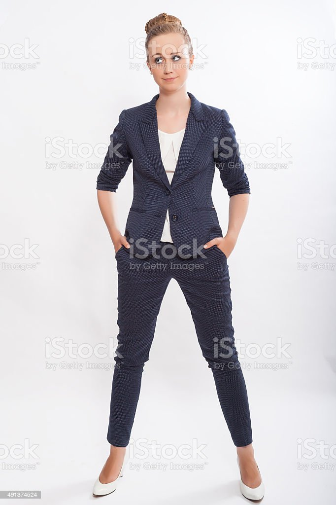Portrait of Fashionable Young Businesswoman stock photo
