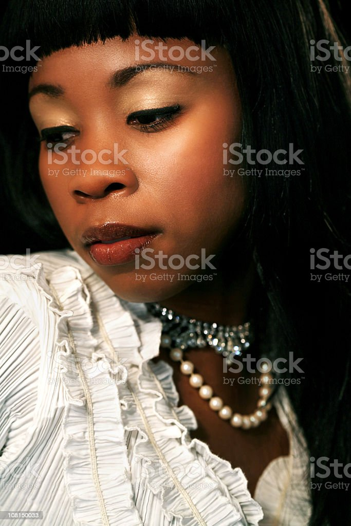 Portrait of Fashionable Young Woman royalty-free stock photo
