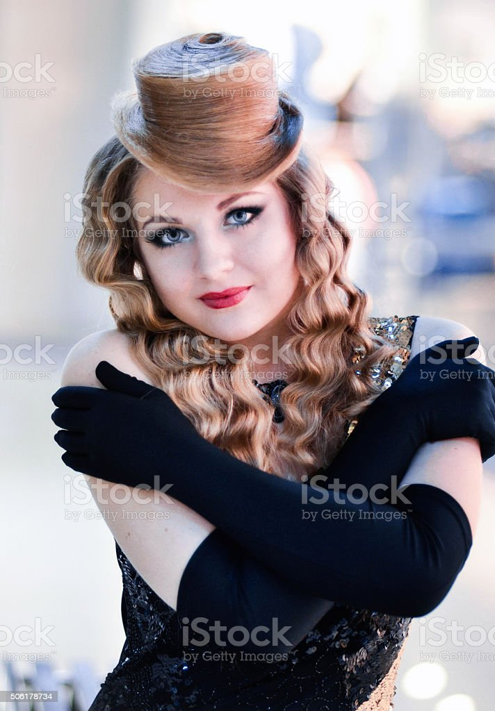 Portrait of fashionable,glamorous,beautiful,attractive,snorting girl,woman,model. stock photo