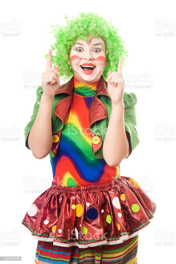 Portrait of female clown royalty-free stock photo