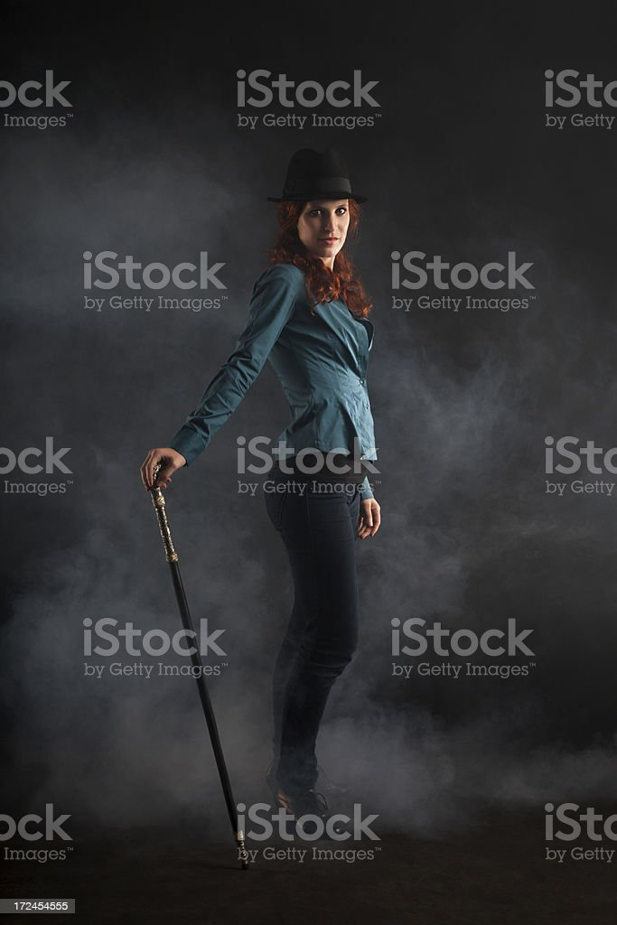 Portrait Of Female Magician royalty-free stock photo