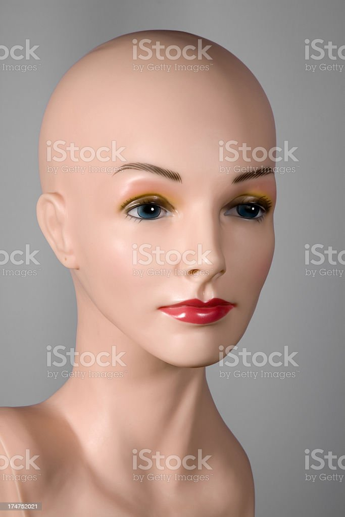 portrait of female mannequin royalty-free stock photo