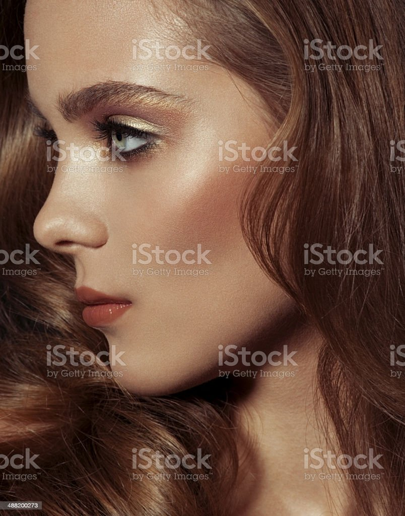 Portrait of female royalty-free stock photo