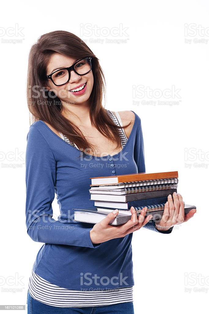 Portrait of female student royalty-free stock photo