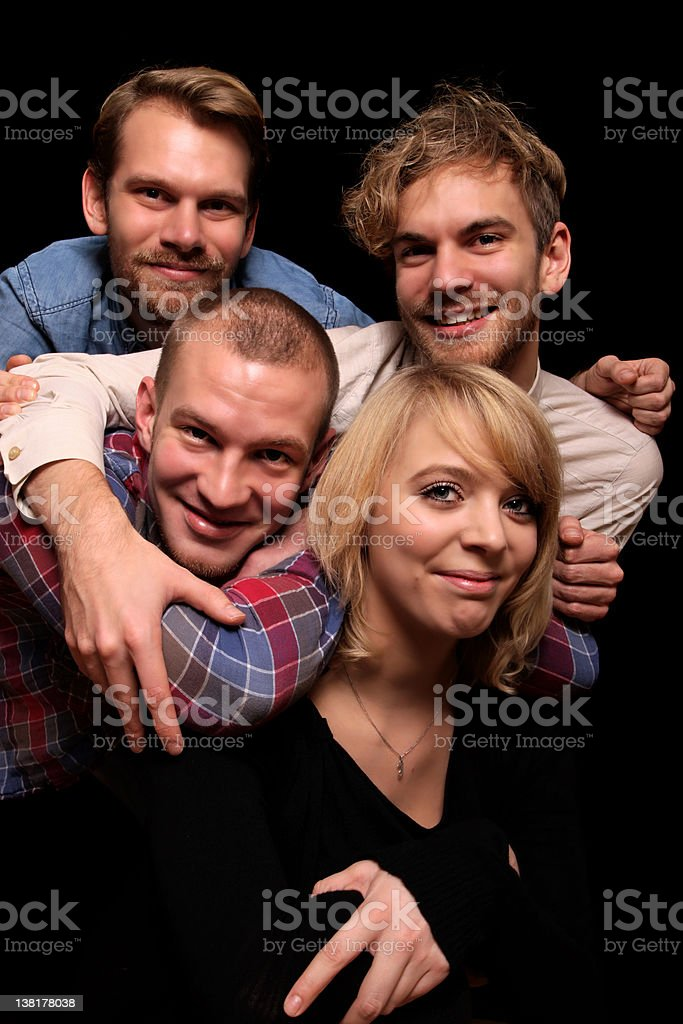 portrait of four siblings royalty-free stock photo