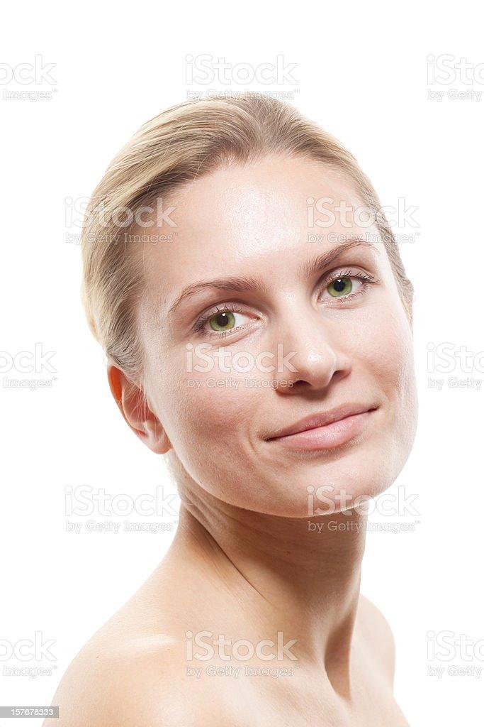 Portrait of Fresh and Beautiful woman stock photo