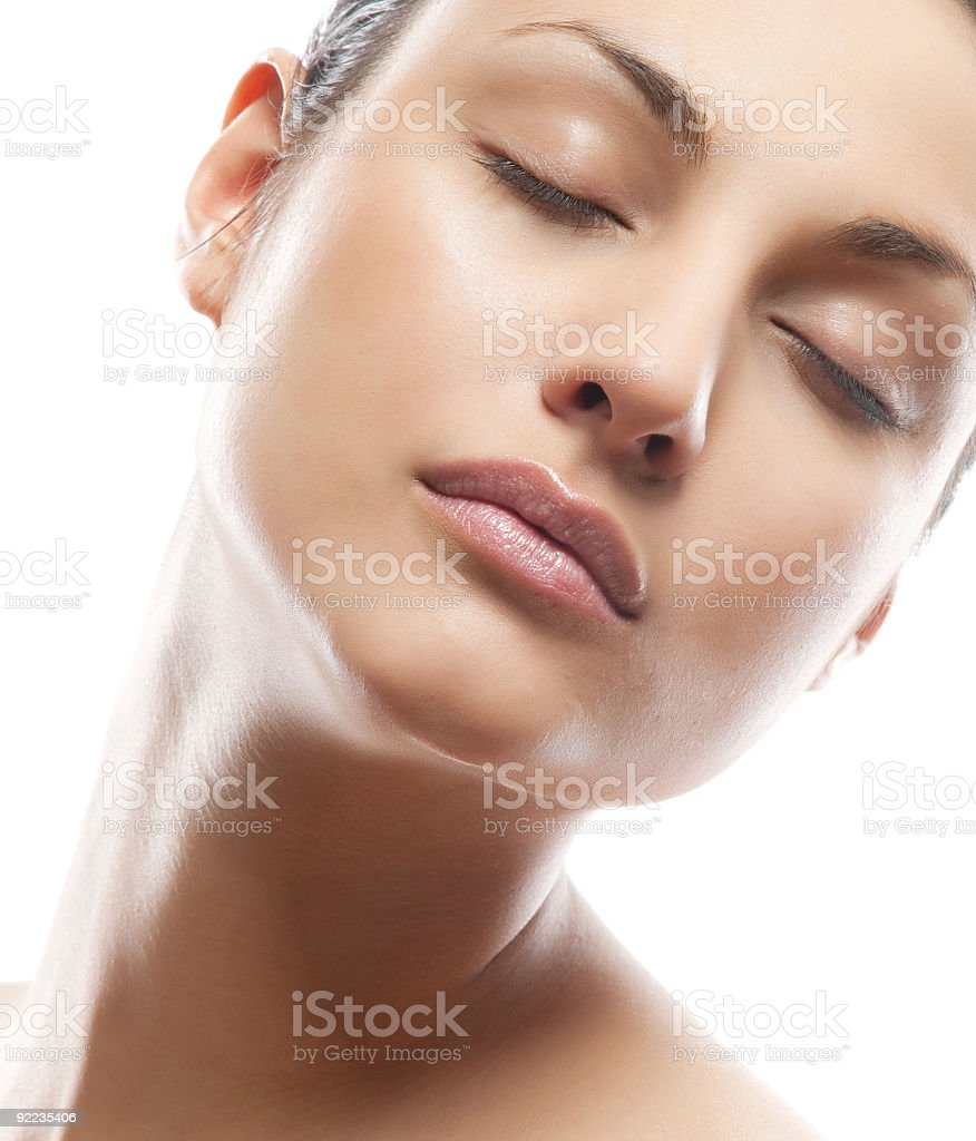 Portrait of Fresh and Beautiful woman royalty-free stock photo