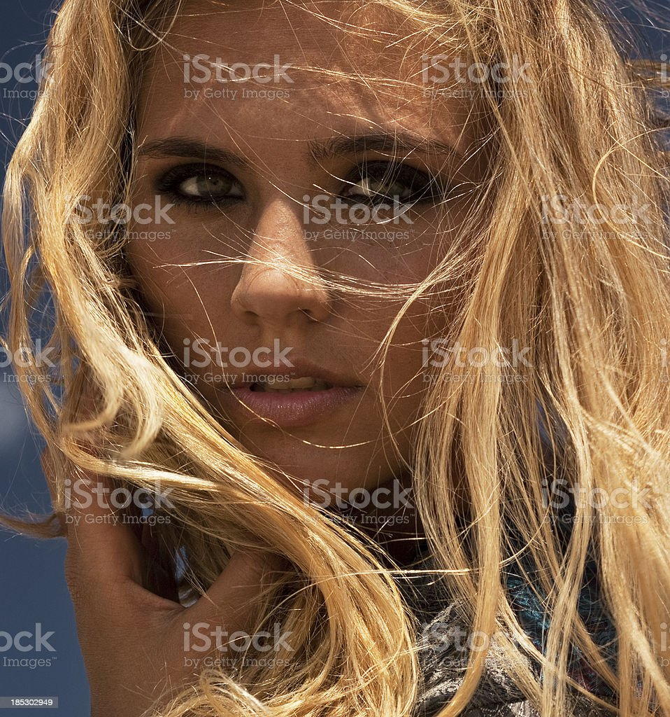 portrait of fresh and beautiful young brunet girl stock photo