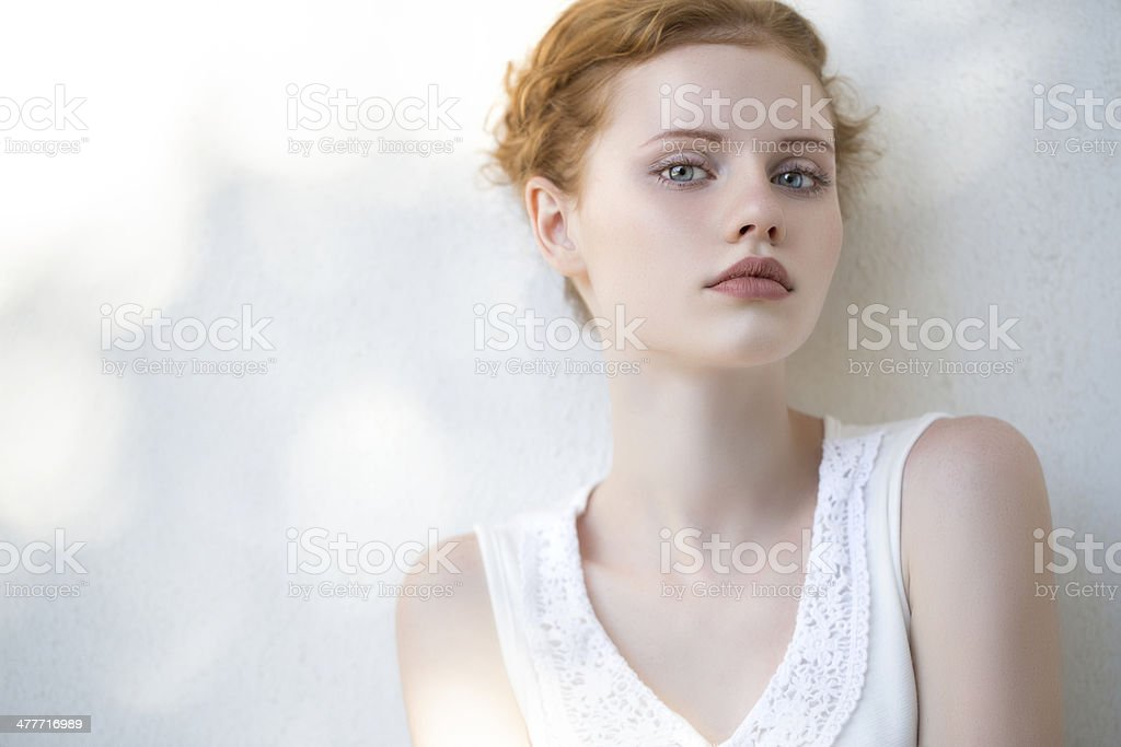 Portrait of fresh and lovely woman royalty-free stock photo