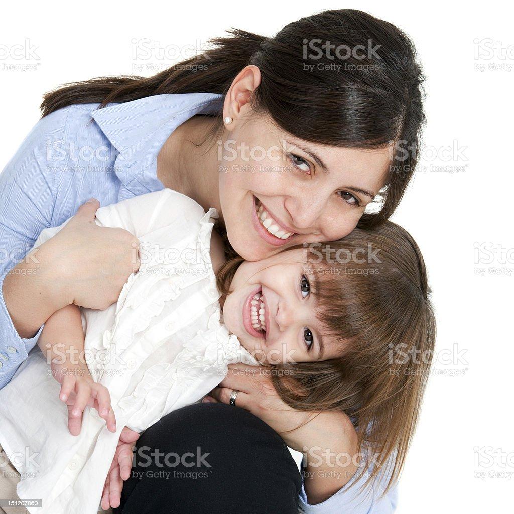Portrait de mère et fille sympathique photo libre de droits