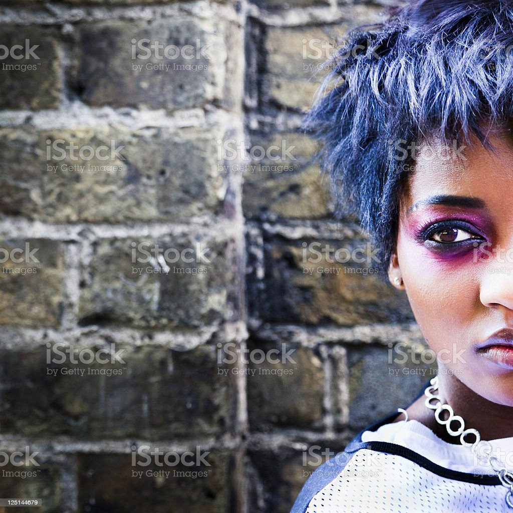 Portrait of funky woman royalty-free stock photo