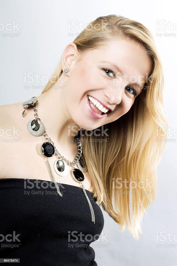 Retrato de mujer joven divertido foto de stock libre de derechos