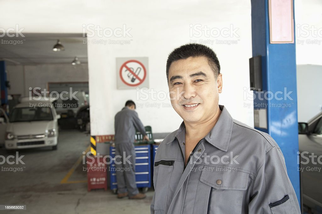 Portrait of Garage Mechanic royalty-free stock photo
