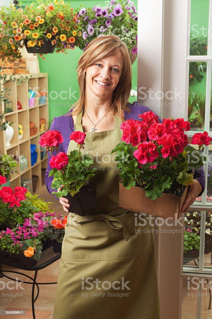 Portrait of Garden Center Flower Shop Shopkeeper Vt royalty-free stock photo
