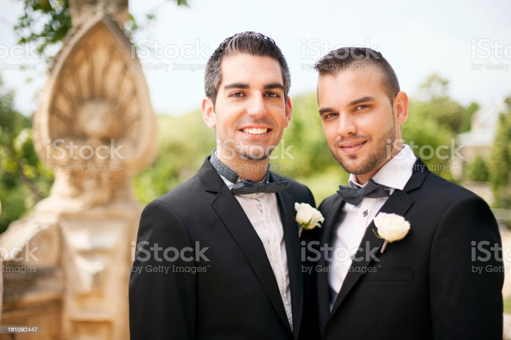Portrait of Gay Couple stock photo