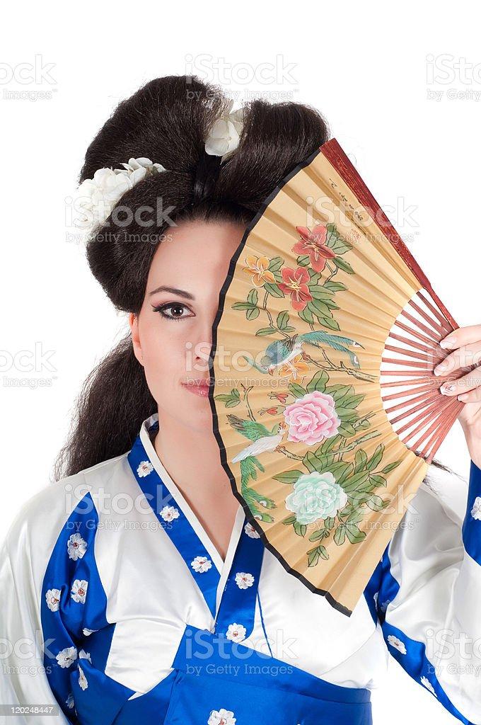 Portrait Of Geisha stock photo