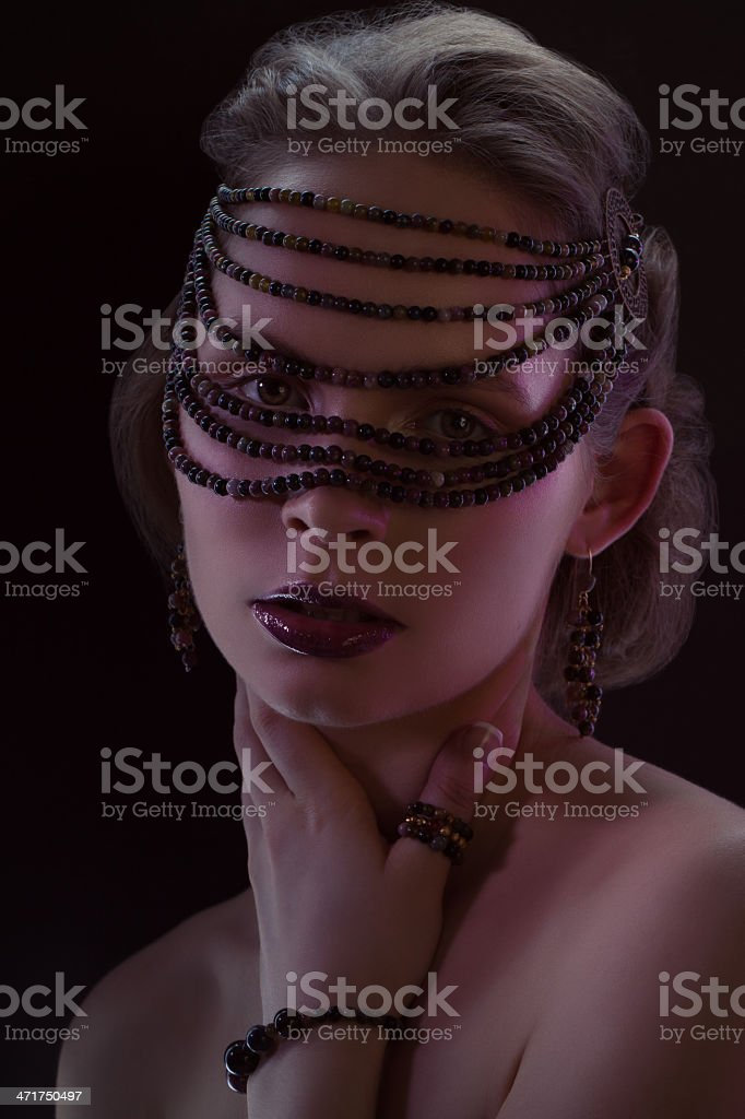 Portrait of girl in bijou royalty-free stock photo