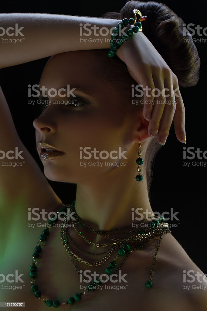 Portrait of girl in bijou royalty-free stock photo