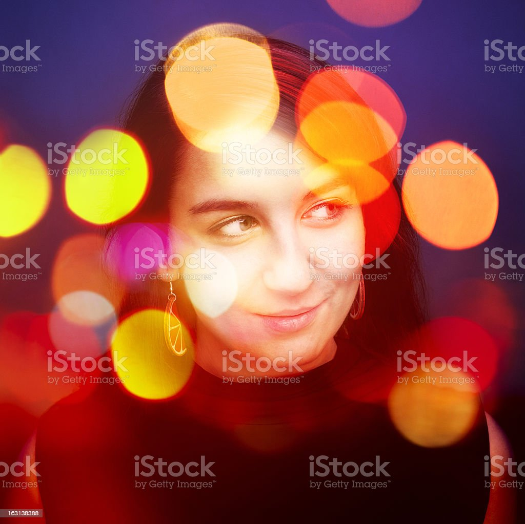 Portrait of Girl in Bollywood Style royalty-free stock photo